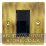 Flat Plate Antique Bronze Data & Phono Sockets